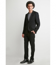 Forever21 Classic Two-Button Blazer Black