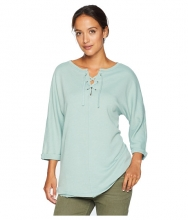 Jag Jeans Debbie Lace-Up Shirt Blue Jade