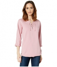 Jag Jeans Debbie Lace-Up Shirt Soft Rose
