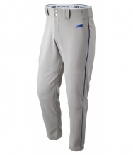 New Balance Men's Charge Baseball Piped Pant Grey with Blue