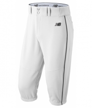 New Balance Men's Charge Baseball Piped Knicker White with Black