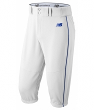 New Balance Men's Charge Baseball Piped Knicker White with Blue