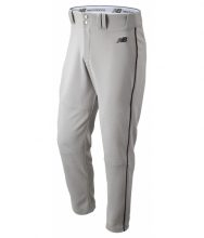 New Balance Men's Charge Baseball Piped Pant Grey with Black