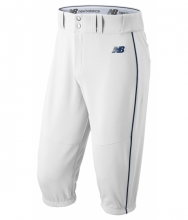 New Balance Men's Charge Baseball Piped Knicker White with Navy