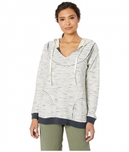 American Rose Deni Striped Hoodie NaturalBlack