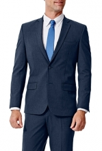 HAGGAR Gabardine 4-Way Stretch Slim Fit 2-Button Suit Separate Coat BLUE