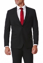 HAGGAR Gabardine 4-Way Stretch Slim Fit 2-Button Suit Separate Coat BLACK