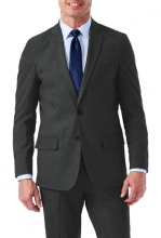 HAGGAR Sharkskin Stretch Slim Fit 2-Button Suit Separate Coat MED GREY