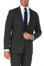 HAGGAR Sharkskin Stretch Slim Fit 2-Button Suit Separate Coat DK GRY HTR