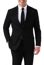 HAGGAR Sharkskin Stretch Slim Fit 2-Button Suit Separate Coat BLACK