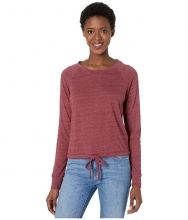 Alternative Cinched Waist Slouchy Sweatshirt Eco True Currant