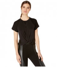 BCBGeneration Twist Front Raw Edge Sweatshirt - TAR1207098 Black