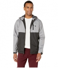 US POLO ASSN Color Block Windbreaker w Hood Black