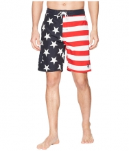 US POLO ASSN 9quot American Flag Swim Shorts Classic Navy