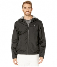 US POLO ASSN Solid Windbreaker w Hood Black