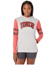 Champion College Unlv Rebels Color Blocked Long Sleeve Hoodie Cool GreyAthletic Red