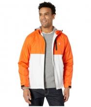US POLO ASSN Hooded Color-Block Windbreaker Bright Orange