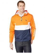 US POLO ASSN Color Block Windbreaker Orange