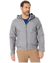 US POLO ASSN Heather Windbreaker w Hood Dark Gray