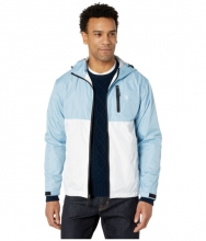 US POLO ASSN Hooded Color-Block Windbreaker Tahoe Blue