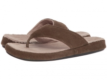 Acorn Suede Spa Thong Smoky Taupe