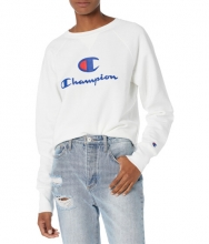 Champion Powerblend Graphic Crew White