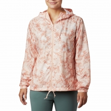 Columbia Flash Forwardtrade Printed Windbreaker Peach Cloud Rubbed Texture