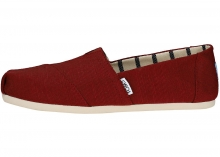 TOMS Classic Heritage Slip On In Cherry Red