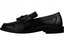 London Brogues Buster Loafers In Black Black
