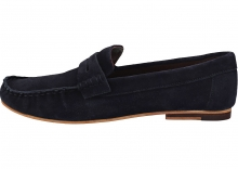 London Brogues Harry Brogue Shoes In Navy Blue