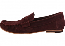 London Brogues Harry Brogue Shoes In Burgundy Red
